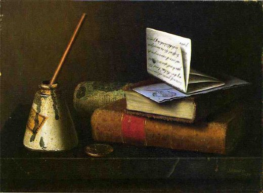 william michael harnett still life with letter to mr. lask paintings