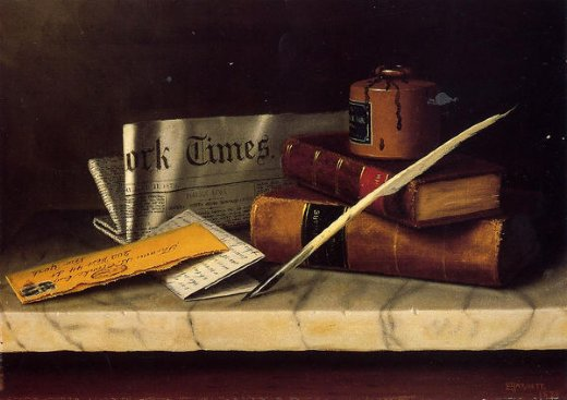 william michael harnett still life with letter to thomas b. clarke painting