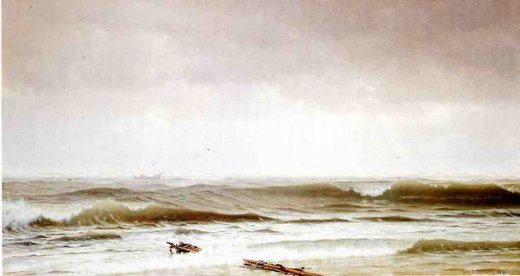 william trost richards along the shore painting