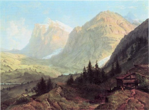 william trost richards alpine landscape paintings