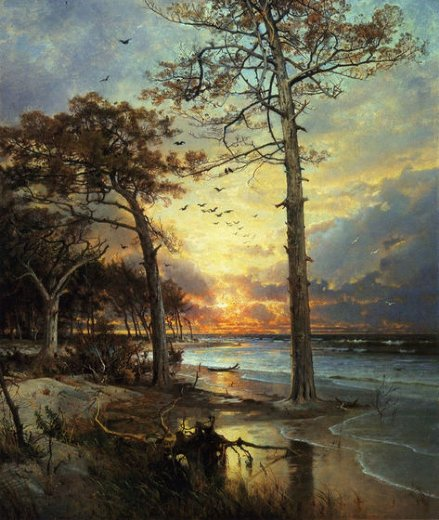 william trost richards at atlantic city painting