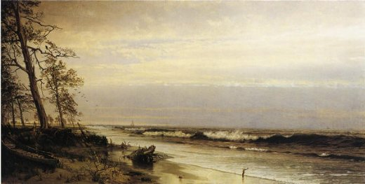 william trost richards atlantic city shoreline painting
