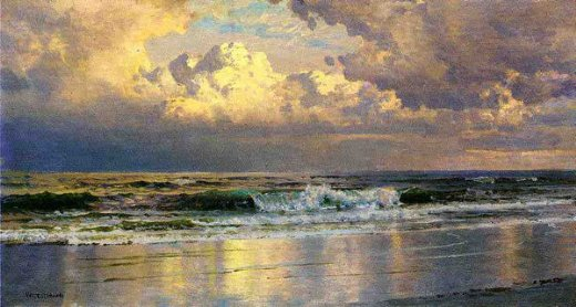 william trost richards beach at atlantic city posters
