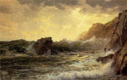 william trost richards breaking waves iii painting