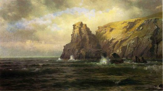 william trost richards cliffs of cornwall painting