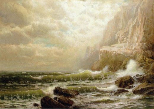 william trost richards cliffs of dover painting