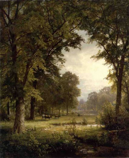 william trost richards idyllic landscape ii painting