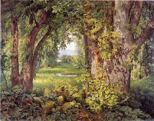 william trost richards into the woods paintings