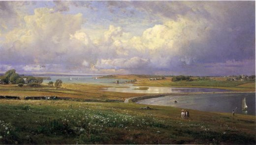 william trost richards mackerel cove jamestown rhode island painting