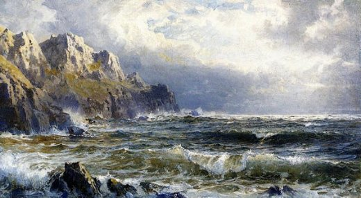 william trost richards moye point guernsey channel islands painting