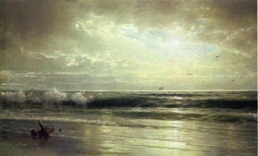 william trost richards on the coast of new jersey paintings