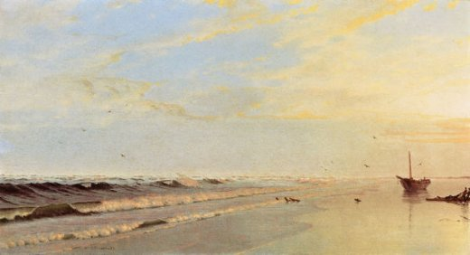 william trost richards on the shore ii painting