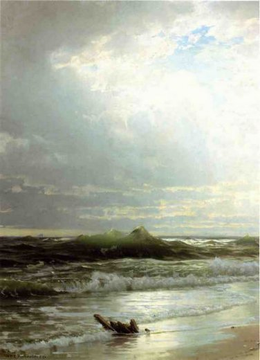 william trost richards on the shore painting