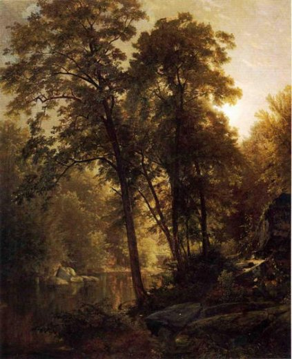 william trost richards on the wissahickon painting