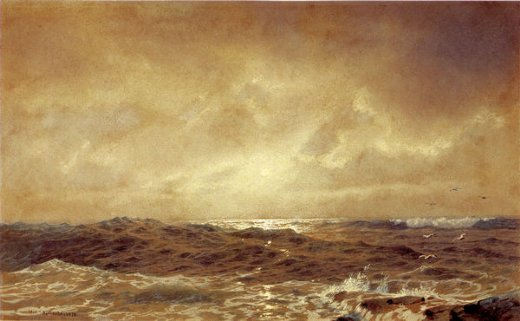 william trost richards rocks and sea painting