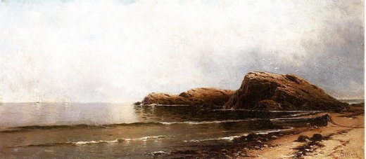 william trost richards rocky seacoast ii painting