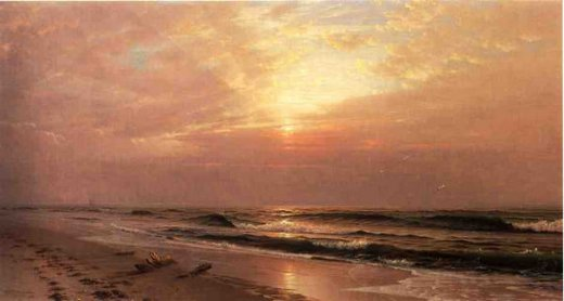 william trost richards seascape at sunset paintings