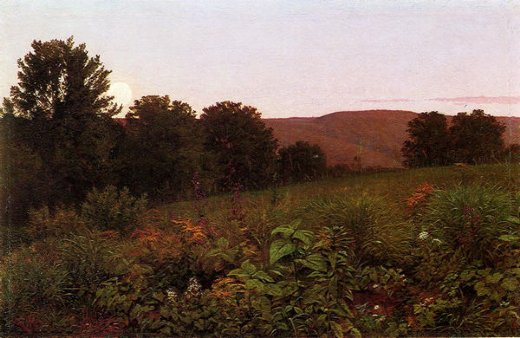 william trost richards sunset on the meadow painting