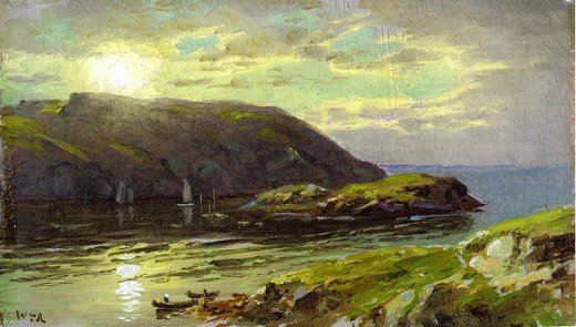 william trost richards the harbor at monhegan paintings
