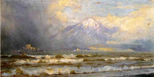 william trost richards vesuvius in winter painting