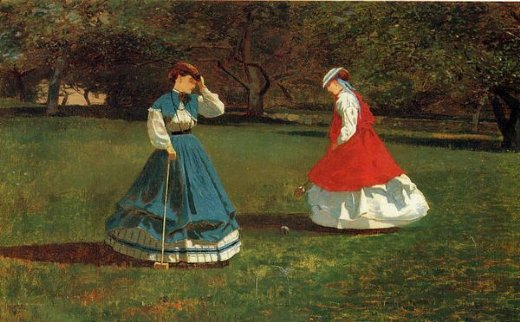 winslow homer a game of croquet painting