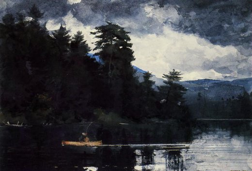 winslow homer adirondack lake painting