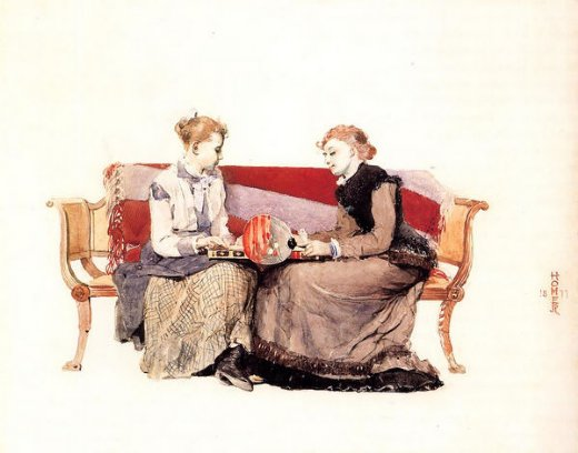 winslow homer backgammon paintings
