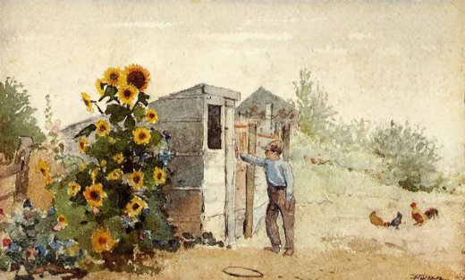 winslow homer backyard summer painting
