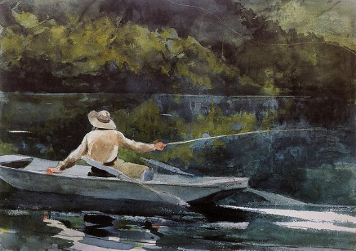 winslow homer casting the fly paintings