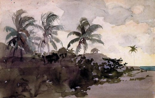 winslow homer coconut palms prints
