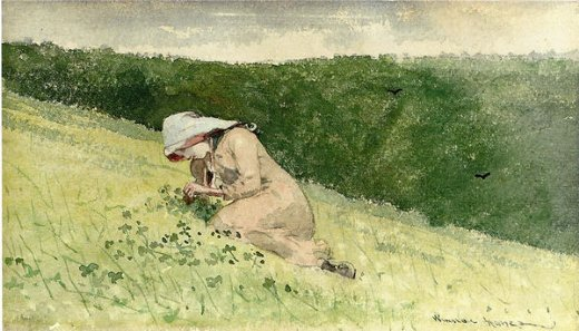 winslow homer four leaf clover painting