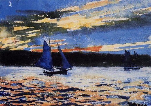 winslow homer gloucester sunset paintings