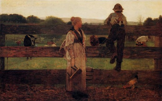 winslow homer milking time paintings
