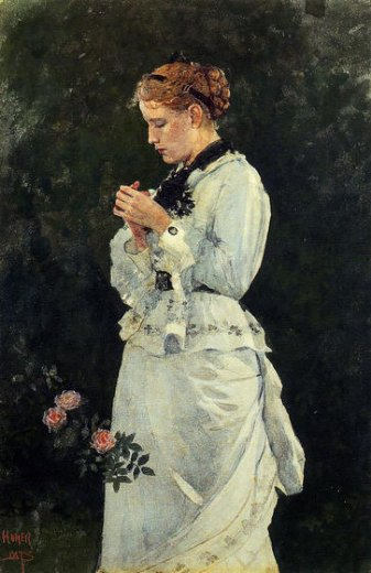 winslow homer portrait of a lady painting