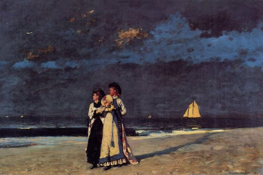 winslow homer promenade on the beach painting