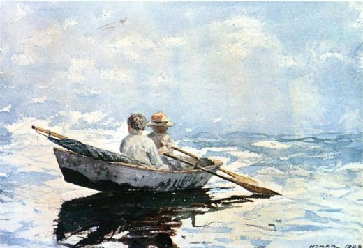 winslow homer rowboat paintings