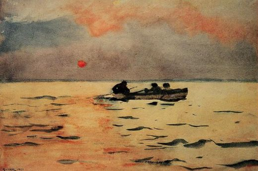 winslow homer rowing home paintings