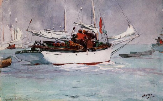 winslow homer sponge boats key west paintings