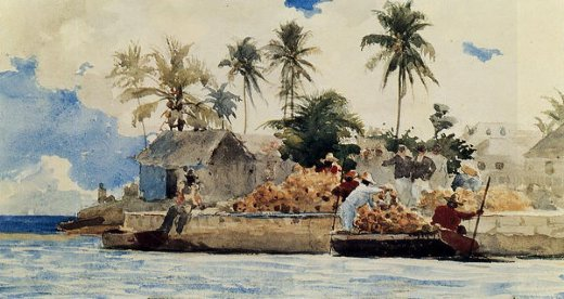 winslow homer sponge fishing nassau painting