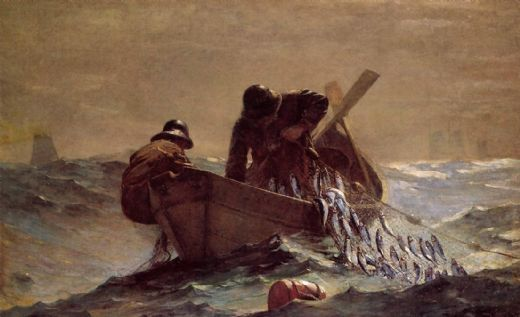 winslow homer the herring net painting