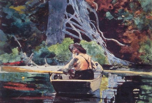 winslow homer the red canoe paintings