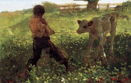 winslow homer the unruly calf paintings