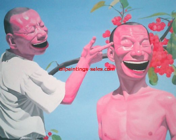 yue minjun cherries painting