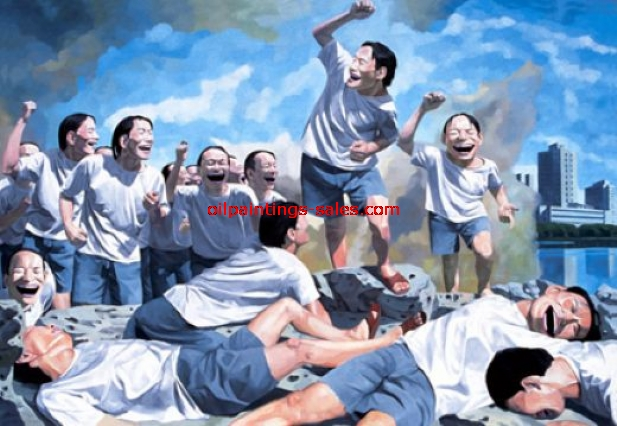 yue minjun freedom leading the people painting