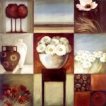 2010 floral montage i oil painting