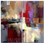 abstract oil paintings - sounds of city by abstract