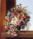 adelheid dietrich flowers in a glass bowl painting 78933