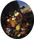 still life of fruit and flowers by adelheid dietrich painting