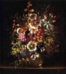 still life with flowers in a vase by adelheid dietrich painting