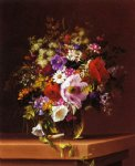 wildflowers in a glass vase by adelheid dietrich painting